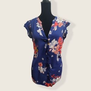 Old Navy Sleeveless Floral blouse size:large